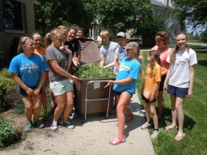 York First United Methodist middle school youth volunteered at Epworth Village recently.